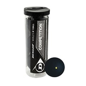 Dunlop Competition Squash Balls 3 Ball Tube