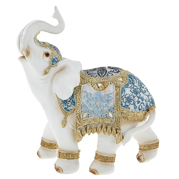 Bombay Blue Elephant XLarge Ornament