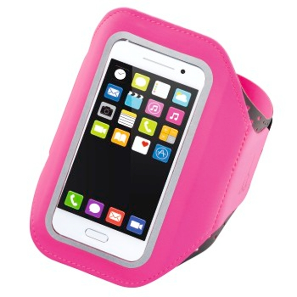 """Hama """"Running"""" Sports Arm Band for Smartphones, Size XXL, pink"""