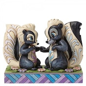 Love is in the air Flower and Miss Skunk Figurine Disney Traditions Figurine