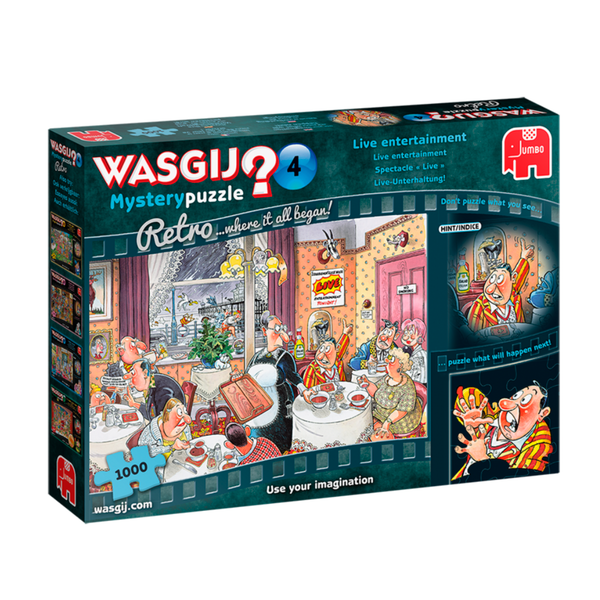 Jumbo Wasgij Retro Mystery 4 - Live Entertainment 1000 piece Jigsaw Puzzle - Image 1