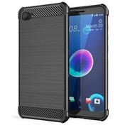 CASEFLEX HTC DESIRE 12 CARBON ANTI FALL TPU CASE - BLACK