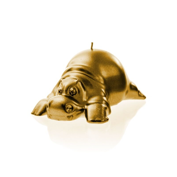 Gold Hippo Candle