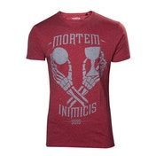 Uncharted 4 A Thief's End Men's Mortem Inimicis Suis Medium T-Shirt