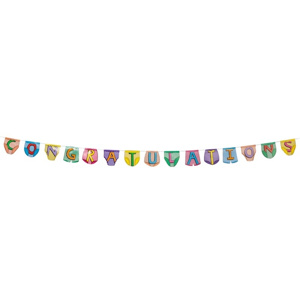 Party Pants Bunting Congratulations