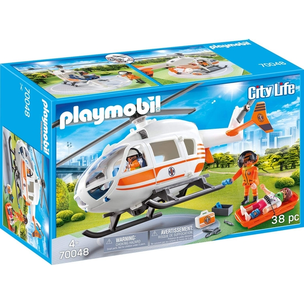 Image of J! Playmobil City Life Rescue Helicopter