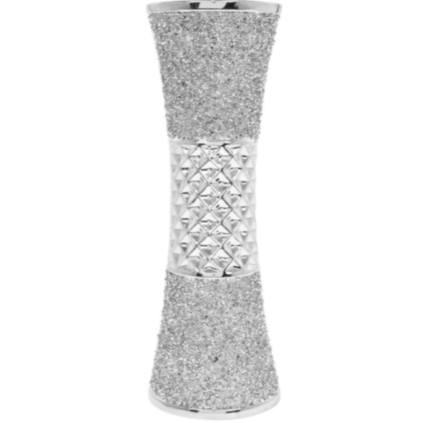 Silver Sparkle Silver Vase By Lesser & Pavey