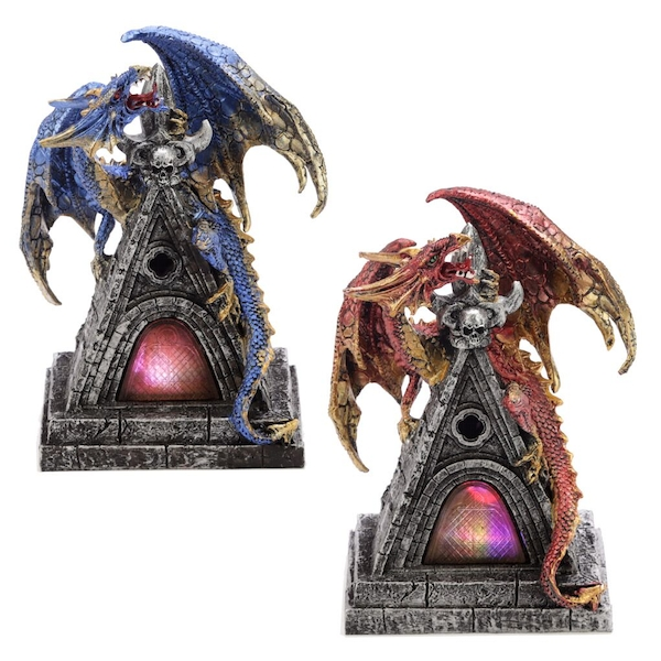 LED Mystical Protector Dark Legends Dragon Figurine (1 Random Supplied)