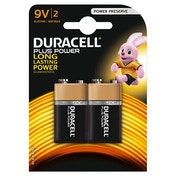 Duracell Plus Power 9V 2 Pack MN1604B2