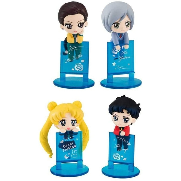 Sailor Moon Ochatomo Series Figure 4-Pack Three Lights 5 cm