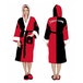 Harley Quinn DC Comics Black and Red Fleece Robe with Hood - Image 2