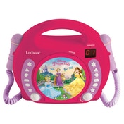 Lexibook RCDK100DP Disney Princess CD Player with Microphones UK Plug