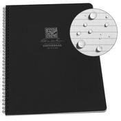 Rite In The Rain Universal Notebook, Side Spiral Bound 4.5 x 7 Inch - Black