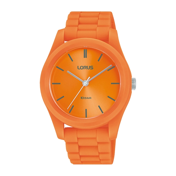 Lorus RG261RX9 Mens Soft Touch Orange Silicone Strap Watch