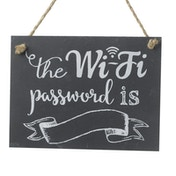 The Wifi Password Is Slate Sign By Heaven Sends