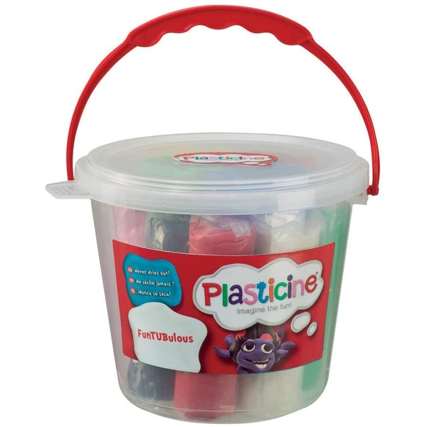 Plasticine FunTUBulous Modelling Clay with Moulds