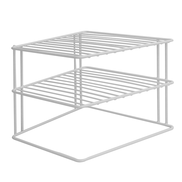 2 Tier Cupboard Corner Shelf | M&W - Image 1