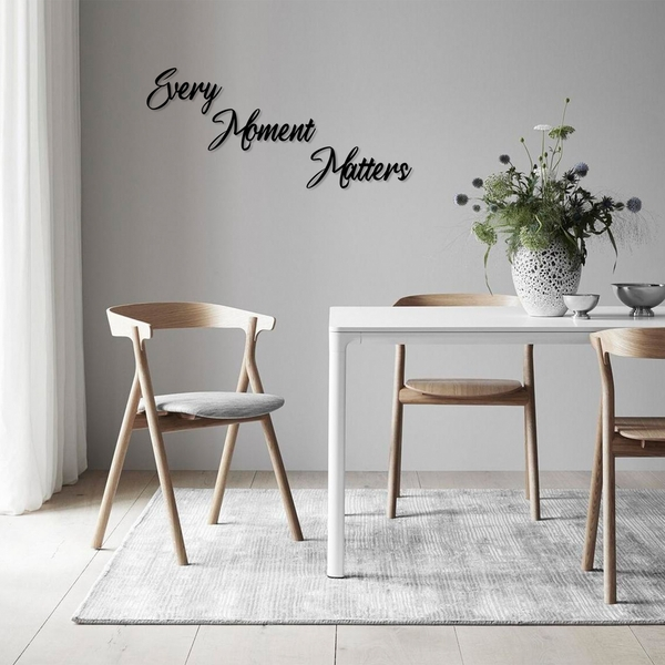 Every Moment Matters Black Decorative Wooden Wall Accessory
