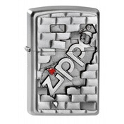 Zippo Unisex Adult Wall Emblem Windproof Pocket Lighter Chrome
