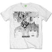 The Beatles  Mens Revolver Album Cover White T-Shirt XX Large