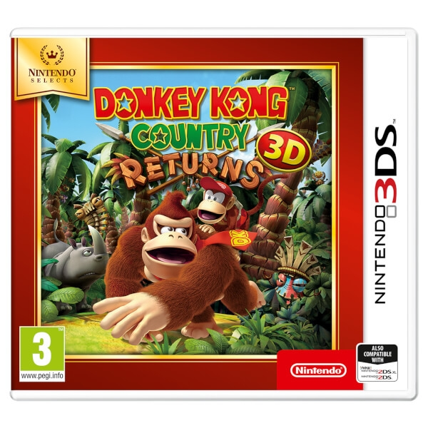Donkey Kong Country Returns 3DS Game (Selects)