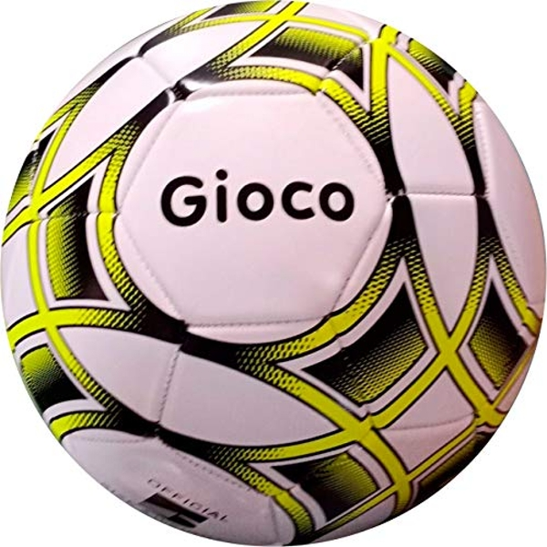 Gioco Unisex-Youth Football, White/Yellow, 5