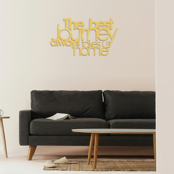 The Best Lourney Always - Gold Gold Decorative Metal Wall Accessory