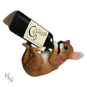 Chihuahua With Pink Ribbon Guzzler Wine Bottle Holder