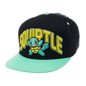 Pokemon Unisex Squirtle Snapback Black Baseball Cap