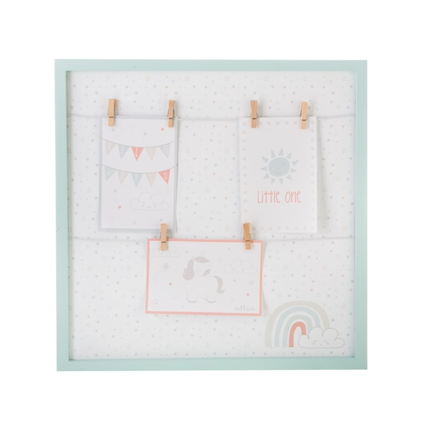 Sass & Belle Evie Unicorn Square Hanging Pegs Frame