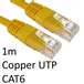 RJ45 (M) to RJ45 (M) CAT6 1m Yellow OEM Moulded Boot Copper UTP Network Cable - Image 2