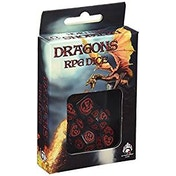 Q-Workshop Dragon Black & Red Dice Set