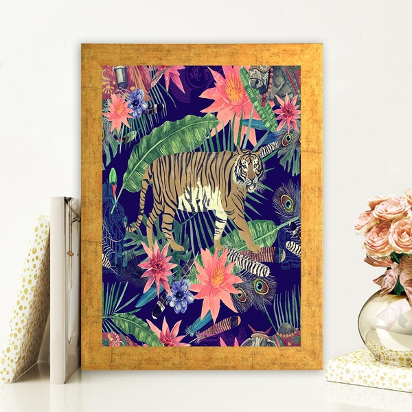 AC669635011 Multicolor Decorative Framed MDF Painting