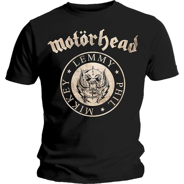 Motorhead - Undercover Seal Newsprint Unisex Large T-Shirt - Black