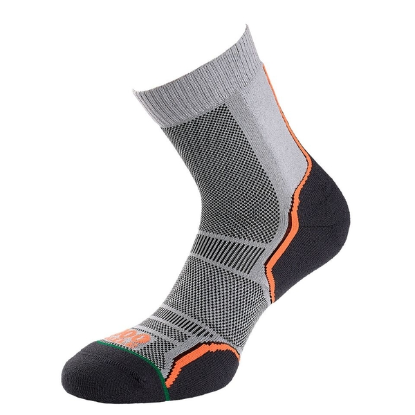 1000 Mile Trail Socks - Twin Pack Ladies Silver/Black - Small