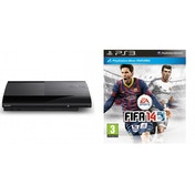 500GB SUPER SLIM Console System Black PS3 with FIFA 14