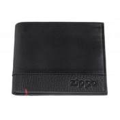 Zippop Black Nappa Leather Credit Card Wallet (10.5 X 9 x 1.5cm)
