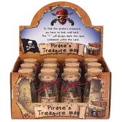 Pirate Treaure Bottle With Scroll Pack Of 12