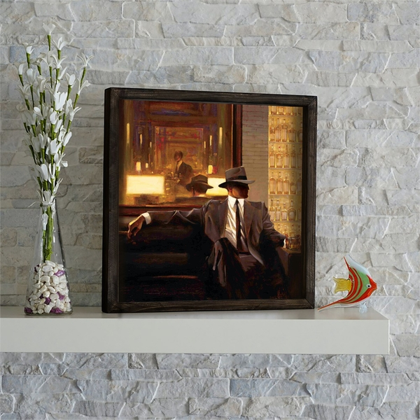 KZM557 Multicolor Decorative Framed MDF Painting