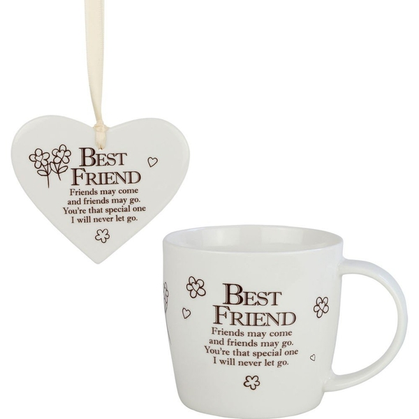 Said with Sentiment Ceramic Mug & Heart Gift Sets Best Friends