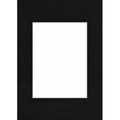Hama Premium Passepartout, Smooth Black, 13 x 18 cm