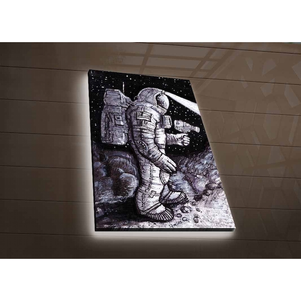 NASA-045 Multicolor Decorative Led Lighted Canvas Painting