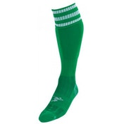 PT 3 Stripe Pro Football Socks Mens Green/White