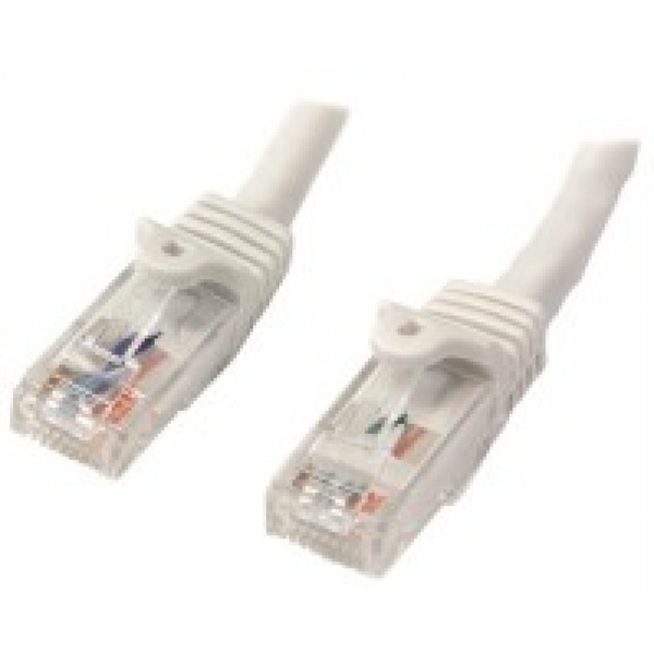 StarTech Cat6 Patch Cable with Snagless RJ45 Connectors 7 m White