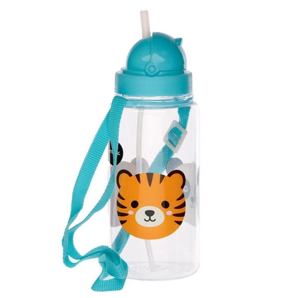 450ml Childrens Reusable Water Bottle with Straw - Cutiemals