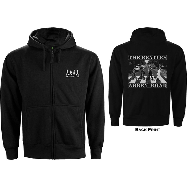 The Beatles - Abbey Road Unisex Small Zipped Hoodie - Black