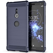 Sony Xperia XZ2 Carbon Anti Fall TPU Case - Blue