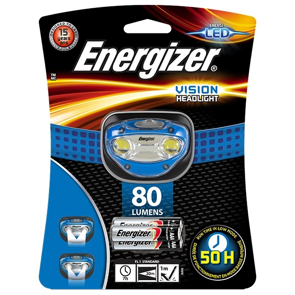Eveready Energizer Vision Headlight 80 Lumens 3 x AAA