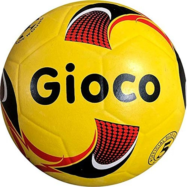 Gioco Unisex-Youth Moulded Football, Yellow, 5