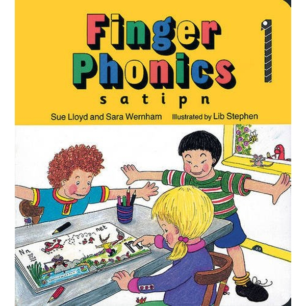 Finger Phonics book 1: in Precursive Letters (BE) by Sue Lloyd, Sara Wernham (Board book, 1994)